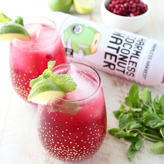 Pomegranate Coconut Mojito Punch.