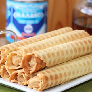 Simple Wafer Rolls With Caramelized Milk.