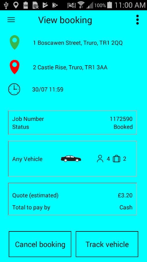 A2B Taxis (Truro & Falmouth) Ltd- screenshot
