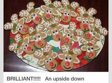 To Decorate, turn upside down and voila! reindeer. Decorate with colored Royal Icing Have...