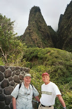 Photo: Bill Prucha and Dick at Io State Park, Maui (May 2003)