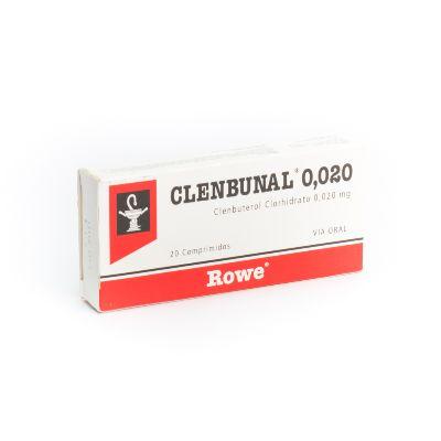 Clenbuterol Clenbunal 0,02 mg x 20 Comprimidos