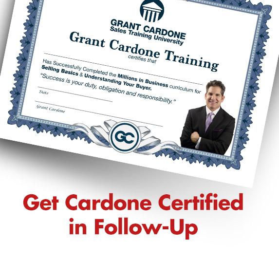 Grant Cardone Follow Up