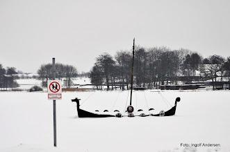 Photo: Træls at være viking om vinteren.