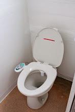 Photo: シャワートイレ付き ビデ、ノズルクリーニング機能あり (温水は出ません)