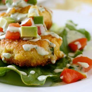 Corn Cakes with Tomato Avocado Relish