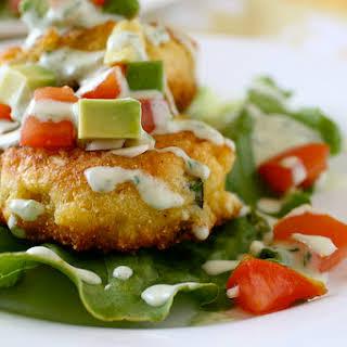 Corn Cakes with Tomato Avocado Relish.