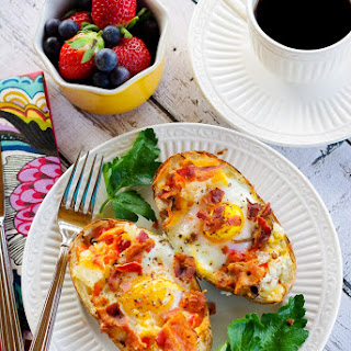 Incredible Edible Egg & Potato Boats.