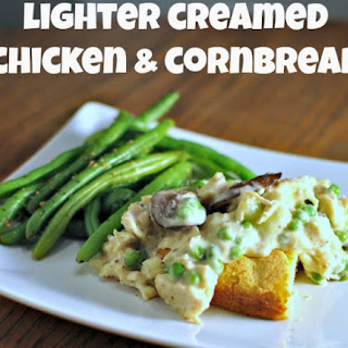 Lighter Creamed Chicken and Cornbread