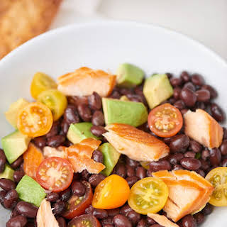 Spicy Salmon Black Bean Salad.