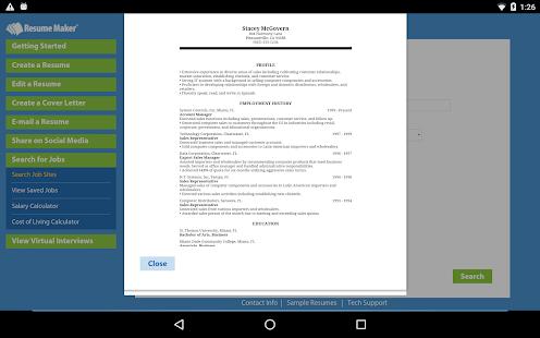 resume maker platinum screenshot thumbnail