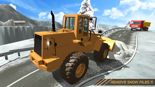 Snow Excavator Dredge Simulator - Rescue Game screenshot 6