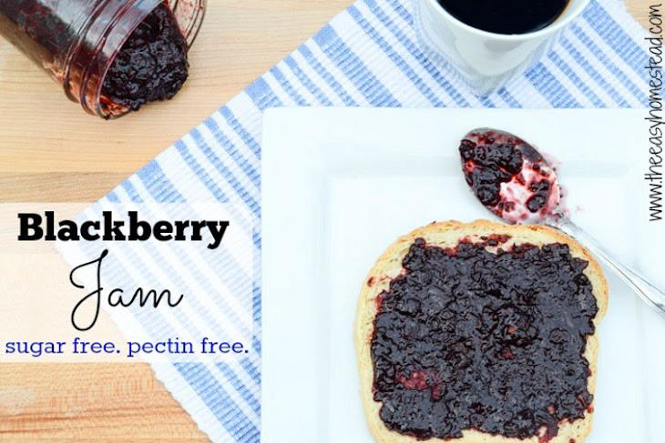 Blackberry Jam Recipe {Without Sugar or Pectin}