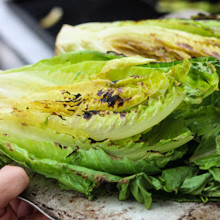 Grilled Shrimp + Chicken Caesar Salad.