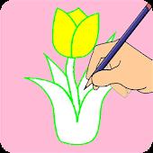 Tải Sách tô màu hoa cho trẻ em miễn phí