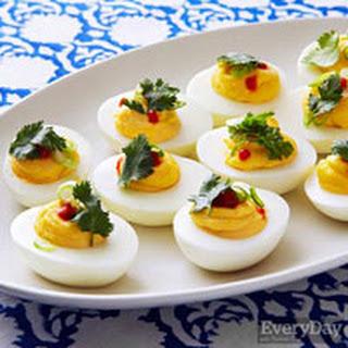 Sriracha Deviled Eggs.