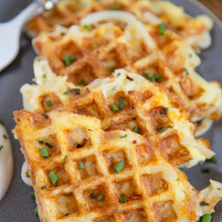 Egg & Cheese Hash Browns Waffles.
