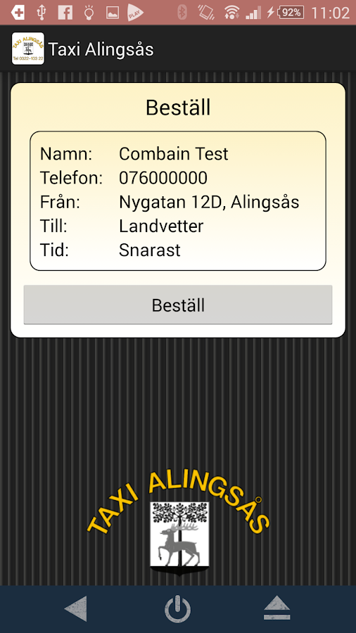 Taxi Alingsås- screenshot