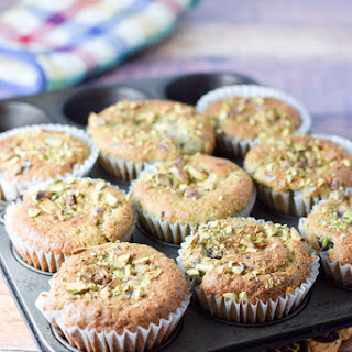 Satisfying Pistachio Pudding Muffins.