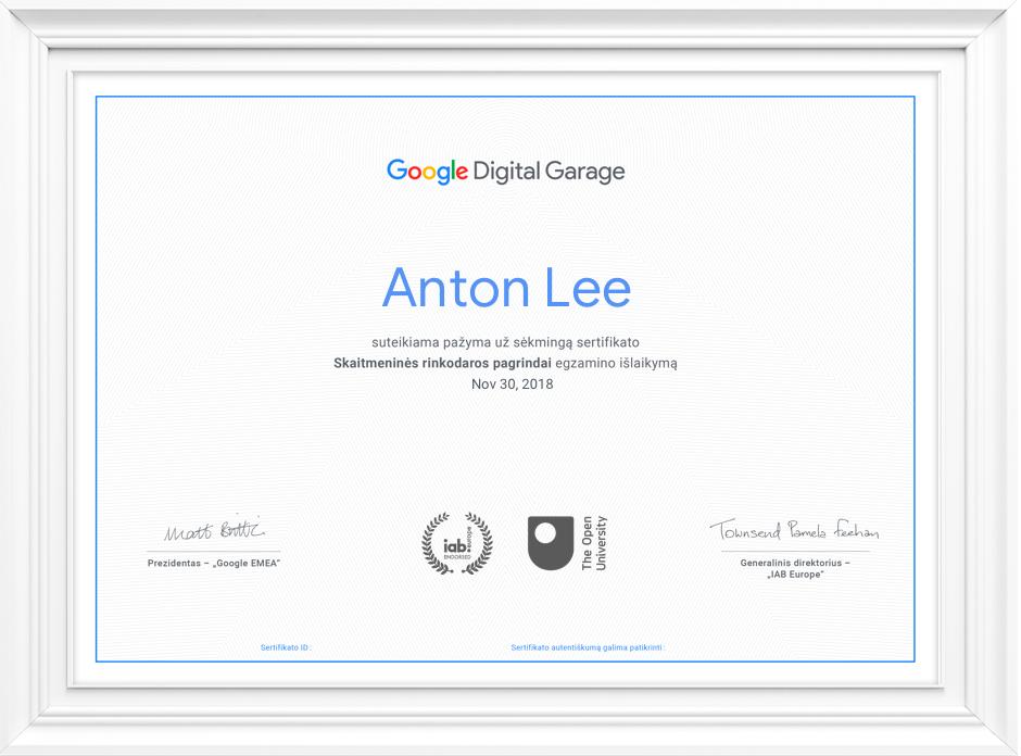 Kodėl verta gauti sertifikatą