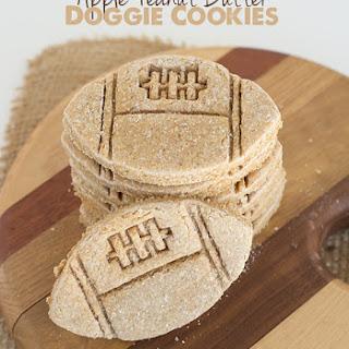 Apple Peanut Butter Doggie Cookies