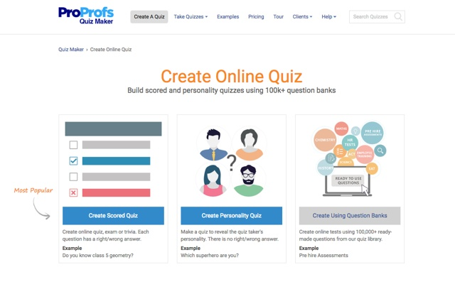 free online quiz maker with results
