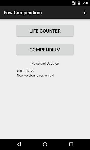 FoW Compendium Beta