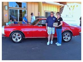 "Photo: 2014 ""BEST HOST CAR"" 1968 CAMARO  -  JANICE BRUCE SPONSORED BY:  NORMA'S RED ROOSTER"