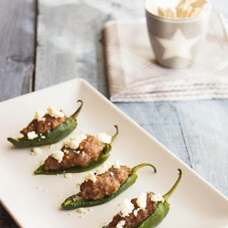 Pimientos de Padron (small green peppers() - Stuffed peppers.