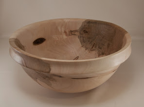 "Photo: Richard Webster 13"" x 6"" bowl [ambrosia maple]"