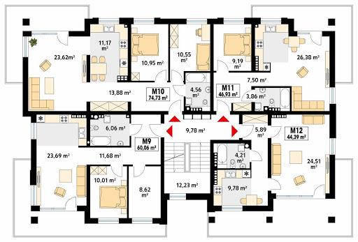 Akant 4 - Rzut drugiego piętra
