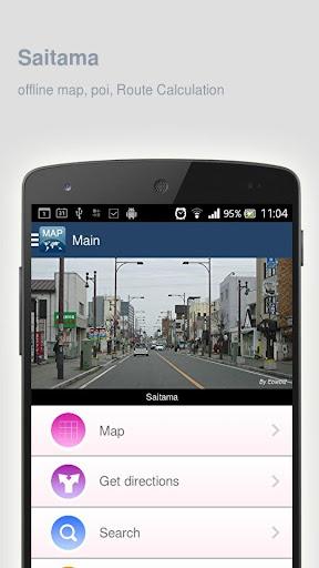 Saitama Map offline