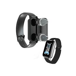 Bratara fitness cu casti wireless Siegbert, Bluetooth, monitor ritm cardiac