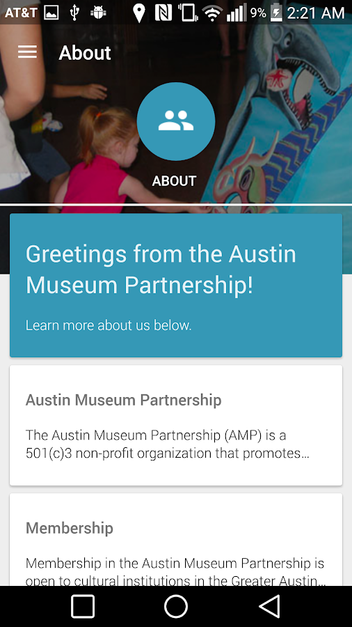 Austin Museum Partnership- screenshot