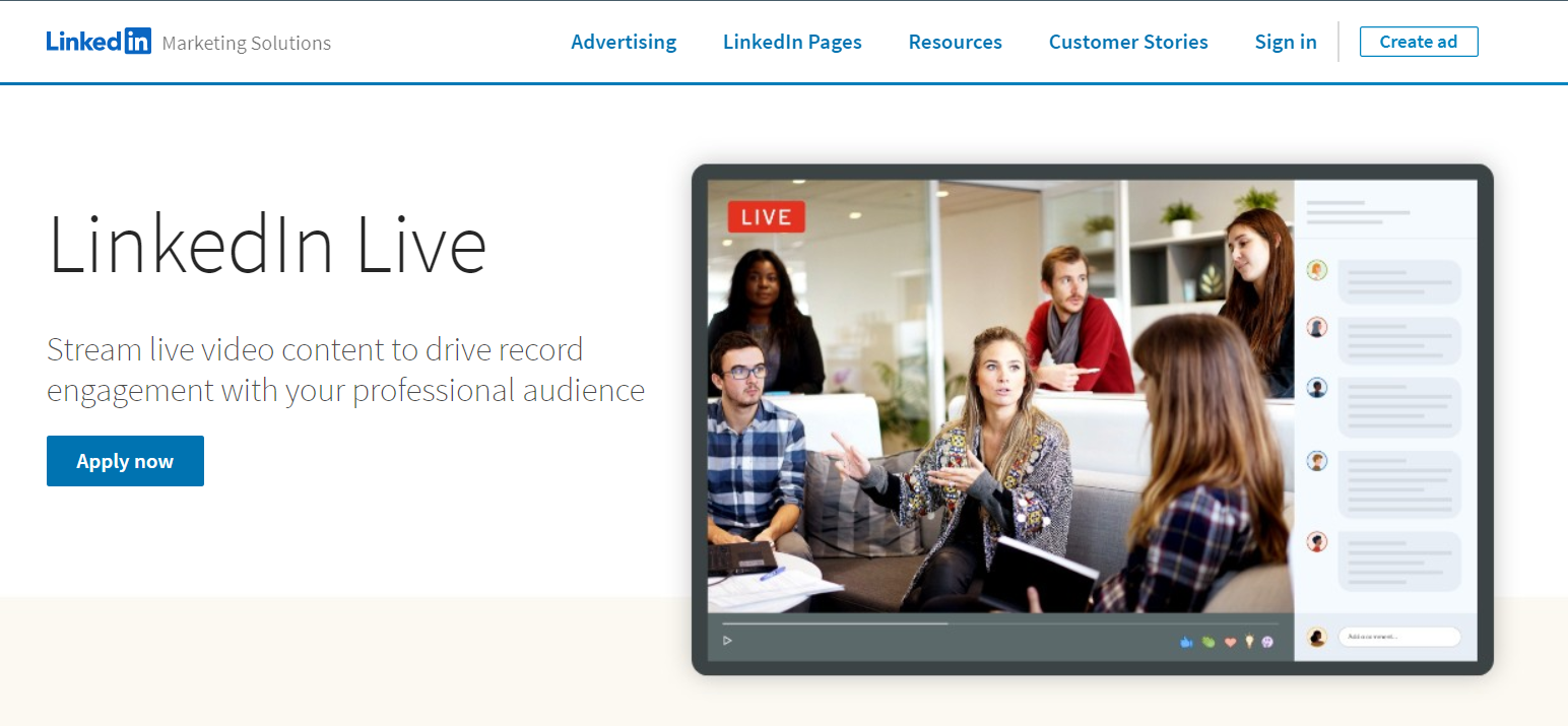 LinkedIn live requires users to sign up for an account