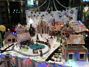 Photo: Gingerbread house display