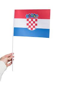 Pappersflagga, Kroatien