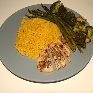 Couscous With Baked Asparagus.