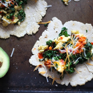 Breakfast Tacos with Bacon & Kale