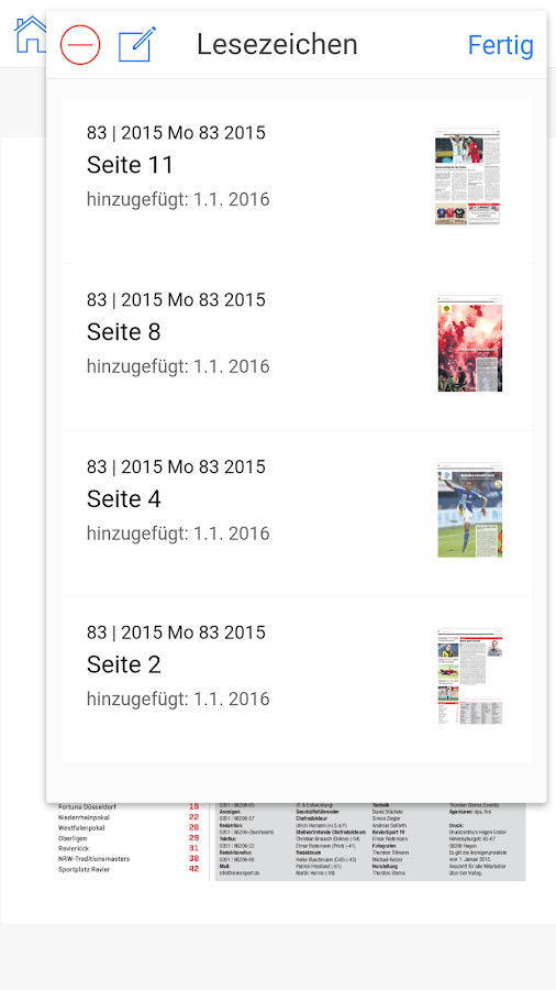 RevierSport ePaper – Screenshot