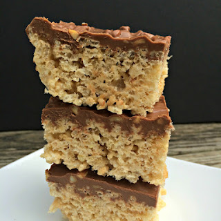Chocolate Peanut Butter Rice Krispies Bars