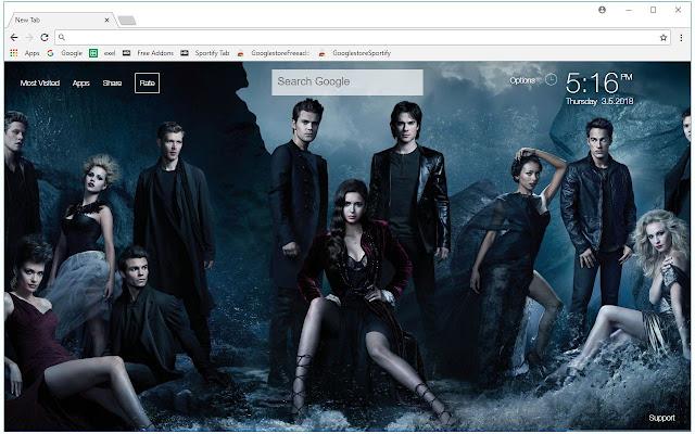 The Vampire Diaries Wallpapers Custom New Tab
