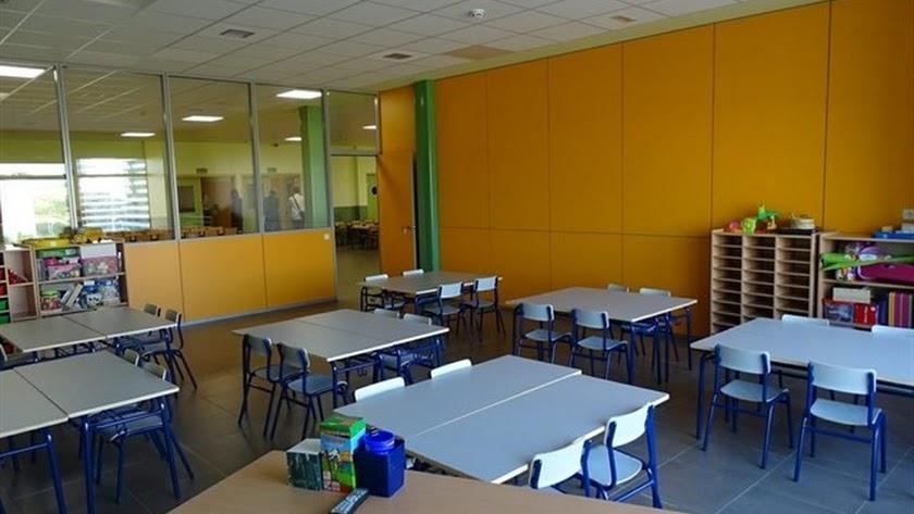 Imagen de archivo de un aula de un centro escolar.