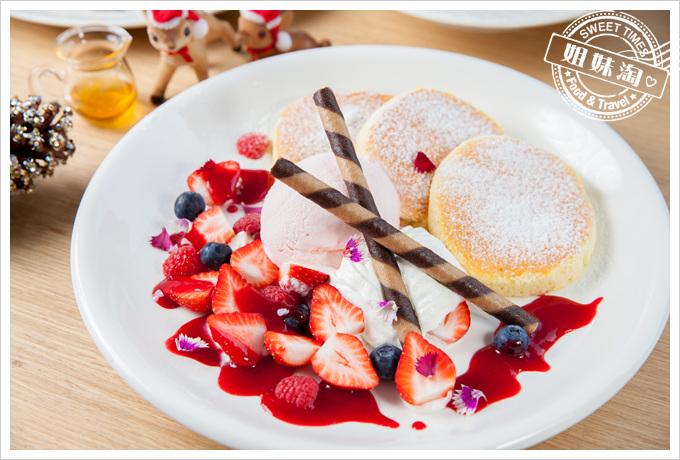 U21coffee菜單莓果草莓冰淇淋鬆餅