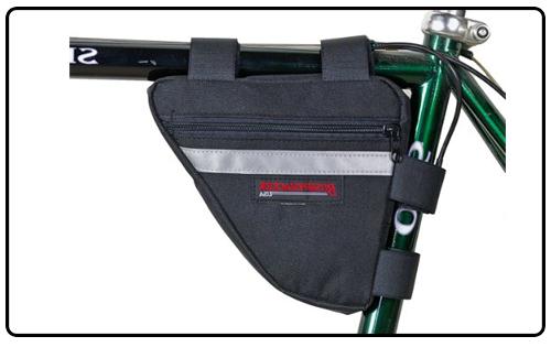 Bushwhacker Ketchum Black - Bicycle Frame Bag w/Reflective Trim Cycling...