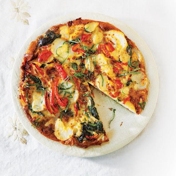 Potato,spinach & Red Pepper Frittata Recipe