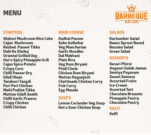 UBQ by Barbeque Nation menu 1