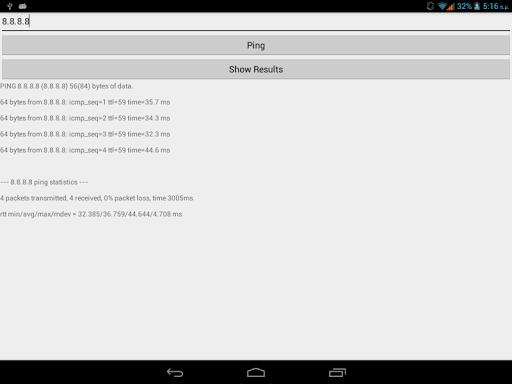 Ping IP Test