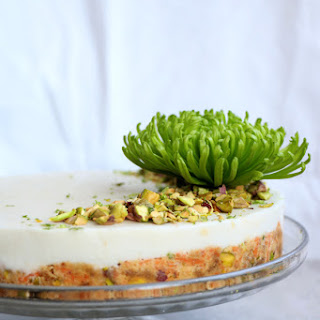 Raw Carrot Cake with Pistachios and Lime Coconut Frosting Recipe