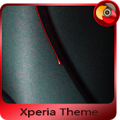 red drop | Xperia™ Theme - rounded edges
